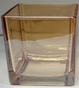 GLASS VASE (square) (JE38-15)