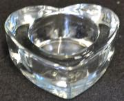 CLEAR candle holder heart  (CHH)